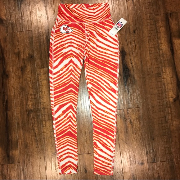 outlet store 39401 d0603 NFL Apparel Kansas City KC Chiefs Zubaz Leggings NWT